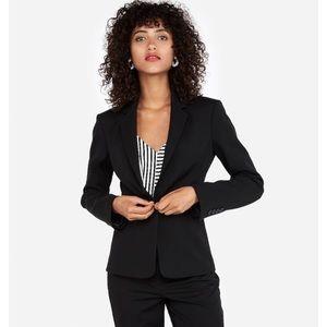 Express design studio notch collar suit jacket xs